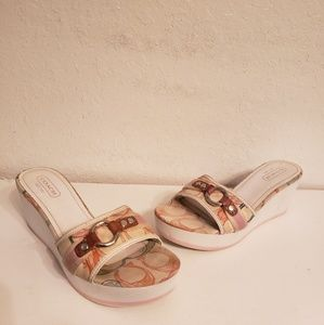Coach Fiona Wedge Sandals Size 8.5